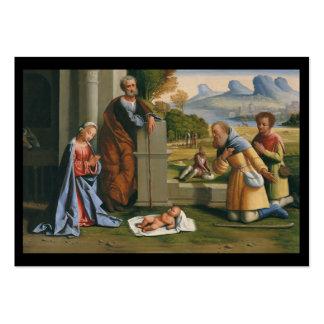 Niño Jesús de la adoración de los pastores Tarjetas De Visita Grandes