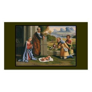 Niño Jesús de la adoración de los pastores Tarjetas De Visita