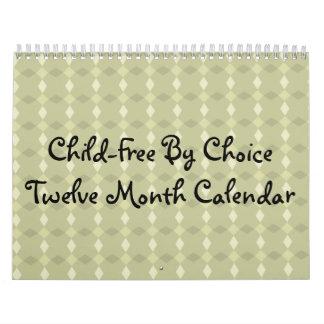 Niño-Libre por el calendario del mes de