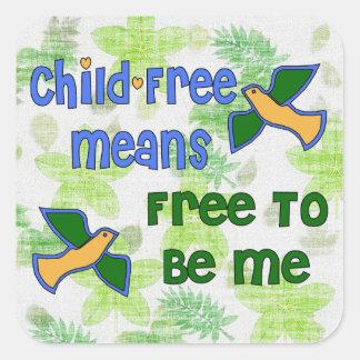 Niño-Libre yo Calcomania Cuadradas Personalizadas