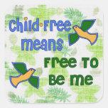 Niño-Libre yo Pegatina Cuadrada