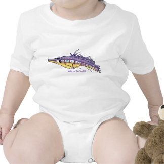 Niño lindo de pico largo de los pescados del trajes de bebé