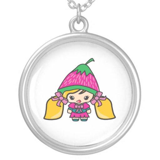 Niño lindo del chica de Kawaii con el gorra de la  Joyerias
