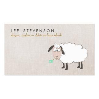 Niño lindo del dibujo de las ovejas tarjetas de visita