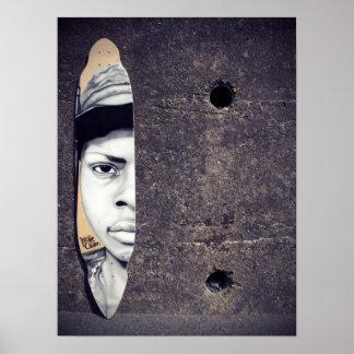 Niño Longboard de la guerra Posters