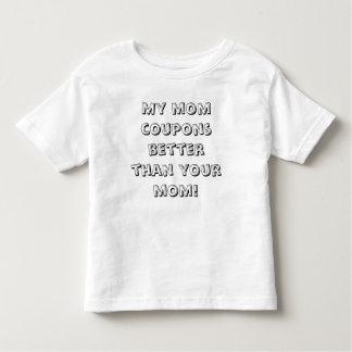 ¡Niño - mis cupones de la mamá mejoran que su Tshirt