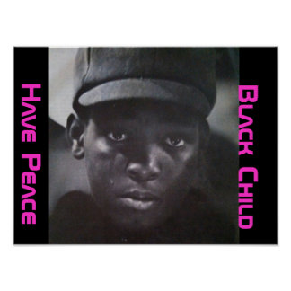 Niño negro impresiones