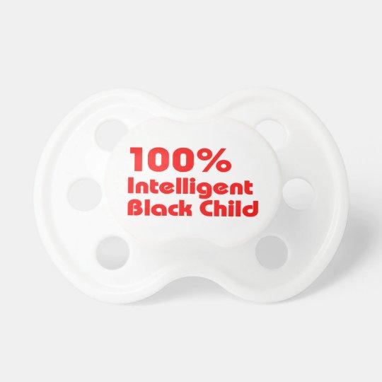 Niño negro inteligente del 100% chupetes de bebé