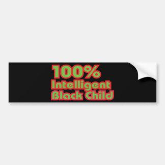 Niño negro inteligente del 100% pegatina para auto