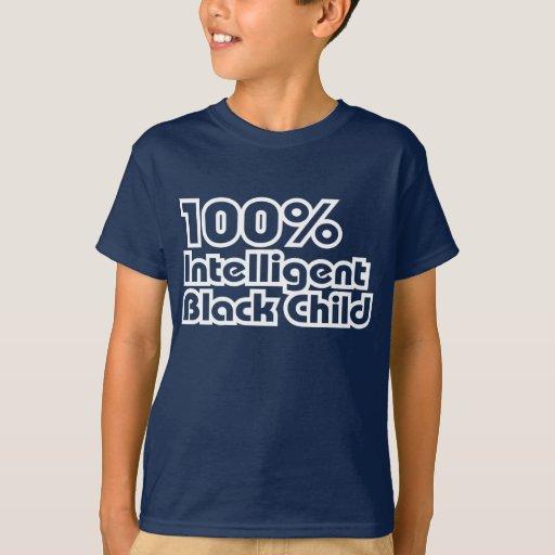 Niño negro inteligente del 100% playera