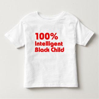 Niño negro inteligente del 100% playeras
