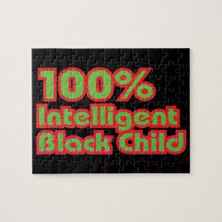 Niño negro inteligente del 100% puzzles con fotos