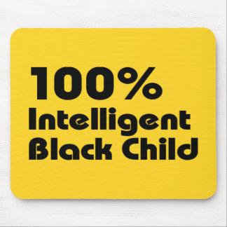 Niño negro inteligente del 100% alfombrilla de ratón