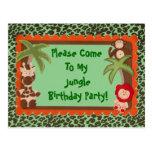 Niño o ducha adolescente del cumpleaños de Jaguar Tarjetas Postales