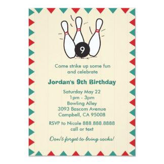 """Niño o fiesta de cumpleaños retra de los bolos de invitación 4.5"""" x 6.25"""""""