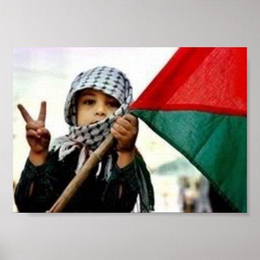 Niño palestino para la paz póster