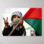 Niño palestino para la paz posters