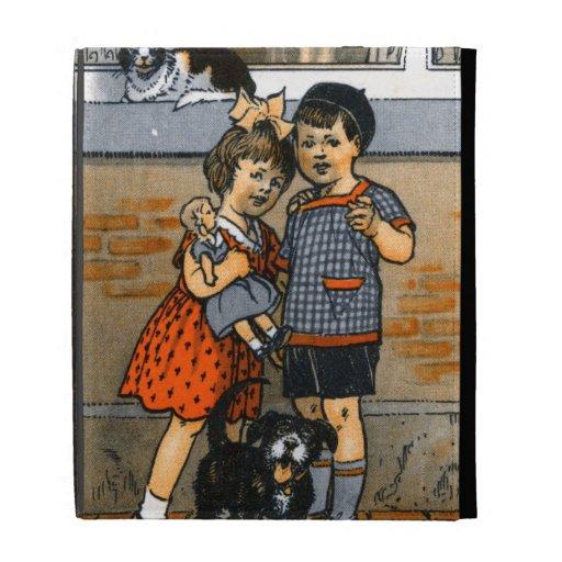 Niño pequeño y chica holandeses