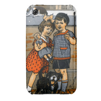 Niño pequeño y chica holandeses Case-Mate iPhone 3 carcasa