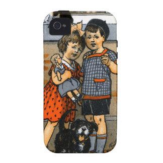 Niño pequeño y chica holandeses iPhone 4/4S fundas