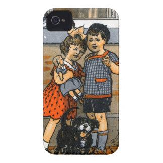 Niño pequeño y chica holandeses iPhone 4 Case-Mate cobertura