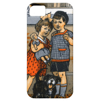 Niño pequeño y chica holandeses iPhone 5 fundas