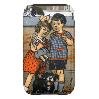 Niño pequeño y chica holandeses tough iPhone 3 carcasas