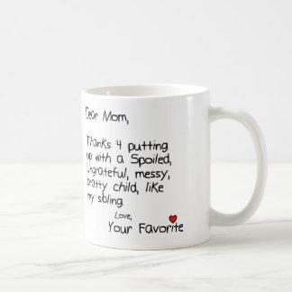 Niño preferido tazas de café
