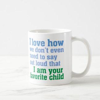 Niño preferido taza básica blanca