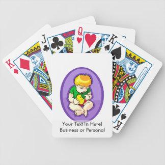 niño que sostiene el polluelo oval.png púrpura cartas de juego
