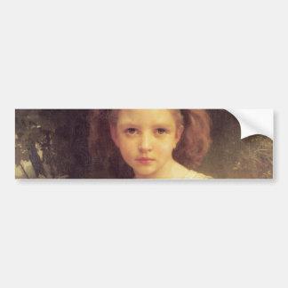 Niño que trenza una corona de W.A. Bouguereau Pegatina Para Auto
