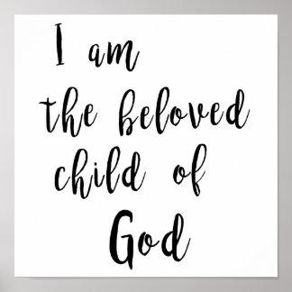 Niño querido de dios - poster póster
