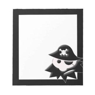 Niño rechoncho del pirata blocs de notas