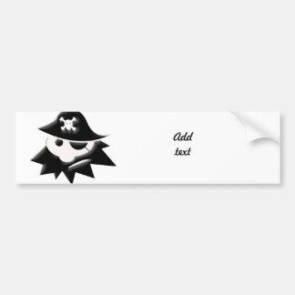 Niño rechoncho del pirata (charla como un día del  pegatina de parachoque