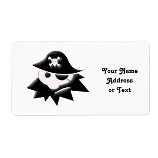 Niño rechoncho del pirata charla como un día del etiqueta de envío