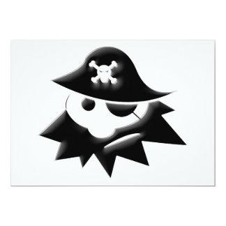 """Niño rechoncho del pirata (charla como un día del invitación 5"""" x 7"""""""