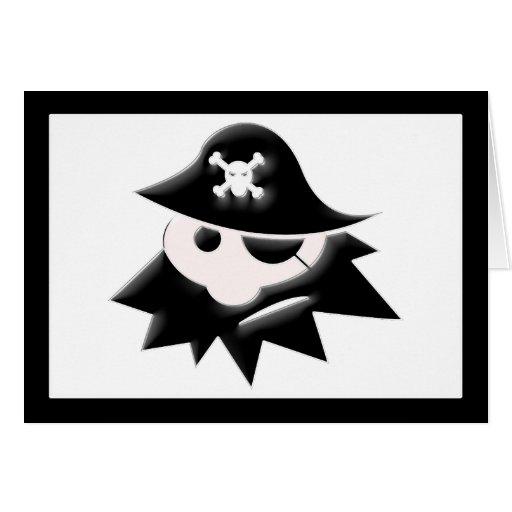 Niño rechoncho del pirata (charla como un día del tarjeta de felicitación