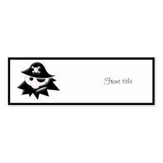 Niño rechoncho del pirata (charla como un día del tarjetas de visita mini