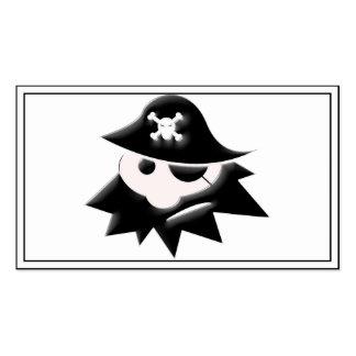 Niño rechoncho del pirata (charla como un día del tarjetas de visita