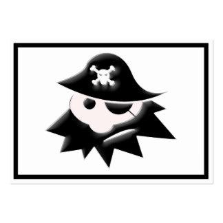 Niño rechoncho del pirata (charla como un día del tarjetas de visita grandes