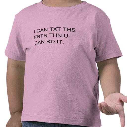 Niño retro rápido del campanero de Texter Camisetas