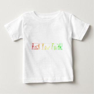 niño-rock su colo multi de la fe playera de bebé