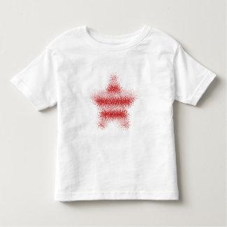 Niño (rojo y blanco) deformado los E.E.U.U. rayado Playera