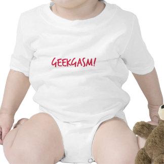 Niño rosado de Geekgasm Traje De Bebé
