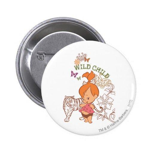 Niño salvaje de PEBBLES™ Pin Redondo 5 Cm