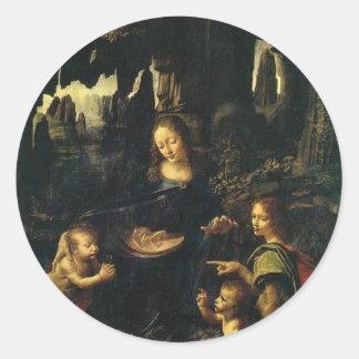 Niño St. John de Maria y de Cristo el Bautista Etiqueta Redonda