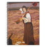 Nino the Circus Flora Clown Figurative Painting Spiral Note Books