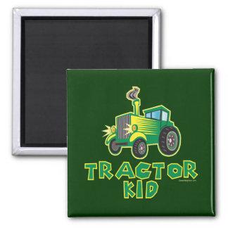 Niño verde del tractor iman para frigorífico