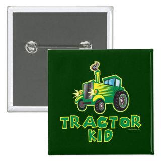 Niño verde del tractor pin cuadrada 5 cm