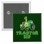 Niño verde del tractor pins